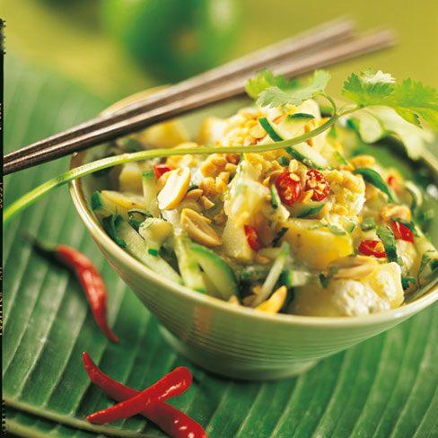 Ensalada de patatas a la tailandesa