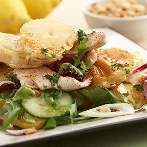 Patatas crujientes con pollo