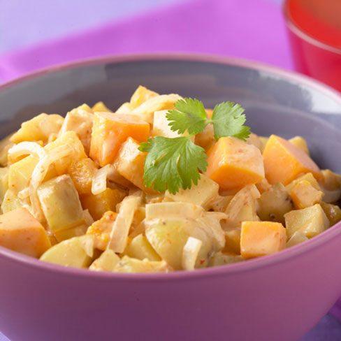 Curry de patatas al estilo thaï