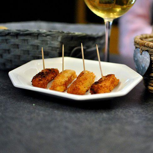 Croquetas de patatas con foie