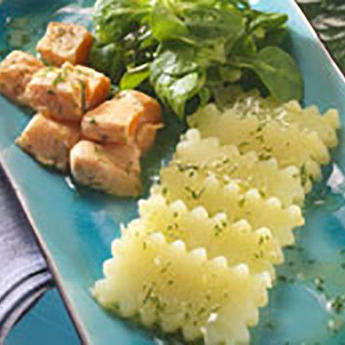 Ensalada de patatas y canónigos