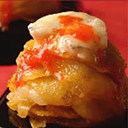 Moldes de patata con bacalao