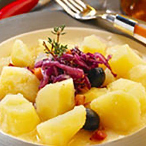 Patatas con col lombarda